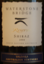 Waterstone Bridge Shiraz 2004