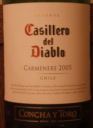 Casillero del Diablo Carmenere 2005