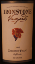 Ironstone Vineyards Cabernet Franc 2004