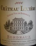 Chateau Luciere Bordeaux 2006