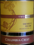 Columbia Crest Two Vines Vineyard 10 Red Wine 2005