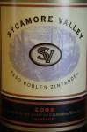 Sycamore Valley Paso Robles Zinfandel 2006